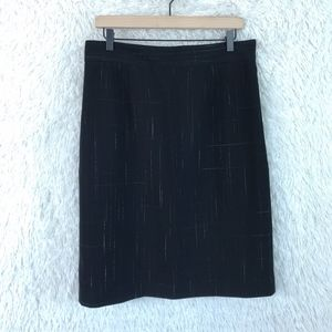 Dressbarn/Isabel & Nina | Black Pencil Skirt Sz 12
